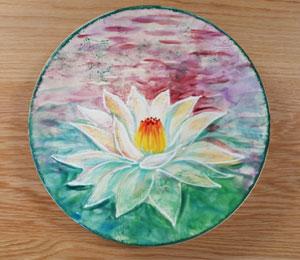 Brentwood Lotus Flower Plate