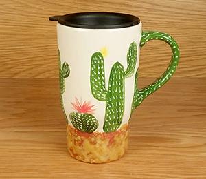 Brentwood Cactus Travel Mug